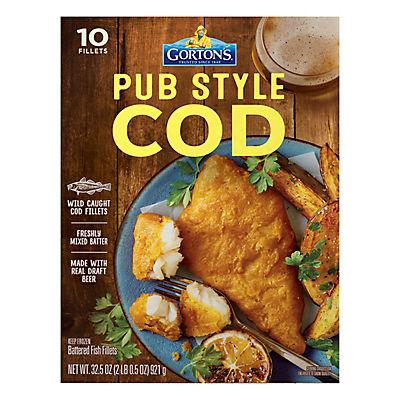 Gorton's Pub Style Cod Fillets, 10 ct.