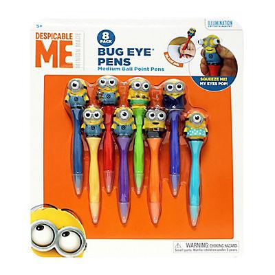 Inkology Minions Bug Eye Pens, 8 pk.