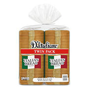 D'Italiano Plain Italian Bread, 2 pk./20 oz.