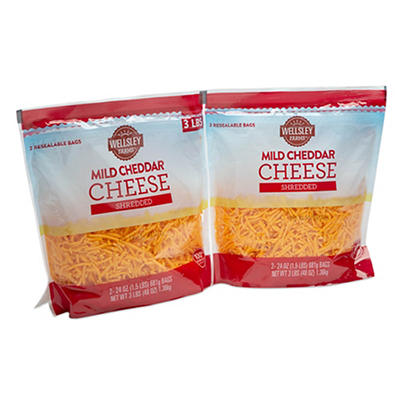 Wellsley Farms Mild Cheddar Shreds 2 ct./24 oz.