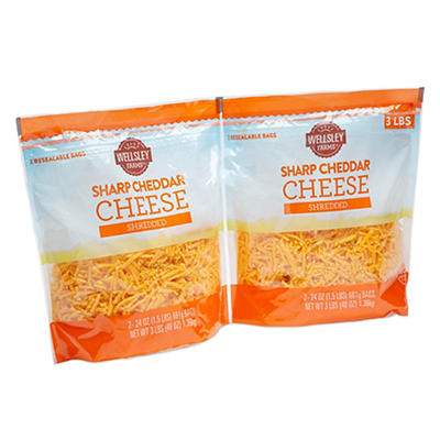 Wellsley Farms Sharp Cheddar Shreds 2 ct./24 oz.