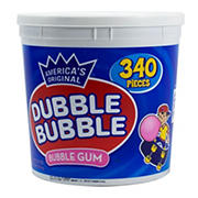 Dubble Bubble Bubble Gum Tub, 340 ct.