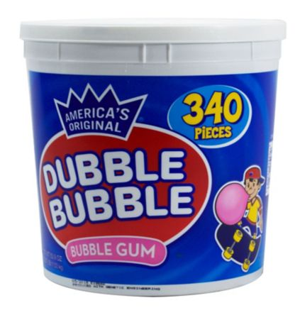 Dubble Bubble Bubble Gum Tub 340 Ct Bjs Wholesale Club