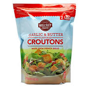 Wellsley Farms Garlic and Butter Flavored Croutons, 2 lbs.