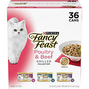Purina Fancy Feast Grilled Poultry & Beef Feast Variety Cat Food, 36 pk./3 oz.