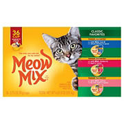 Meow Mix Classic Favorites Cat Food Variety Pack, 36 pk./2.75 oz.