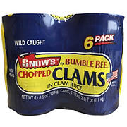 Snow's Ocean Chopped Clams, 6 pk./6.5 oz.