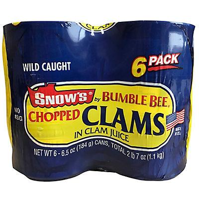 Snow's Ocean Chopped Clams, 6 pk./6.5 oz.