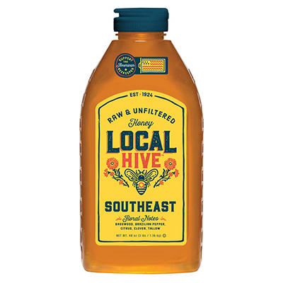 Local Hive Southeast Raw and Unfiltered Honey, 48 oz.
