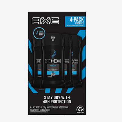 Axe Dry Invisible Solid Antiperspirant, 4 pk./2.7 oz.