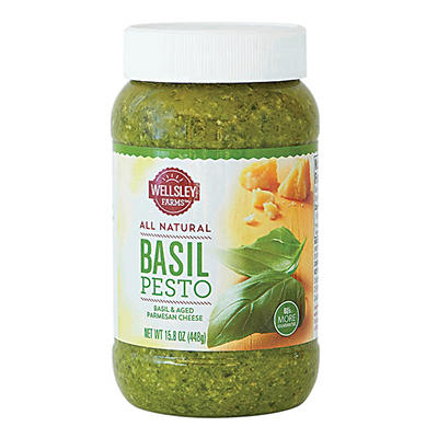 Wellsley Farms All-Natural Basil Pesto, 15.8 oz.
