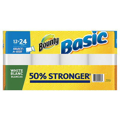 Bounty Basic Select-A-Size Paper Towels, 12 pk.