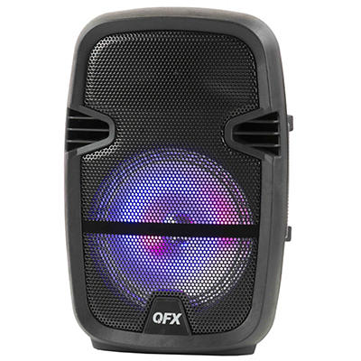 "QFX 8"" Portable Bluetooth Party Speaker with Wired Microphone"