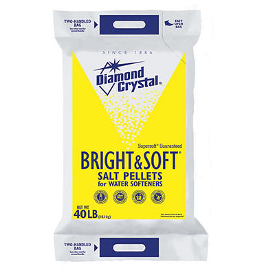 Diamond Crystal Bright & Soft Salt Pellets for Water Softeners, 40 lbs