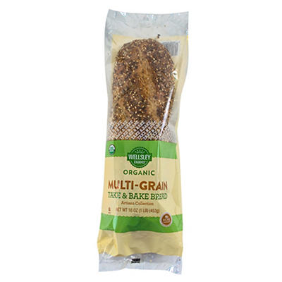 Wellsley Farms Organic Multi-Grain Take & Bake Bread, 16 oz.