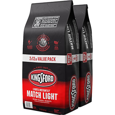 Kingsford Match Light Instant Charcoal Briquets, 11.6 lbs./2 pk.