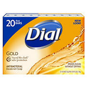 Dial Gold Antibacterial Deodorant Bar Soap, 20 ct./4 oz.
