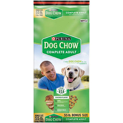 Purina Dog Chow Complete Dog Food, 55 lbs.