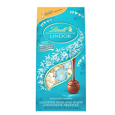 Lindt Lindor Ice Cream Assortment Chocolate Truffles, 45 ct./19 oz.