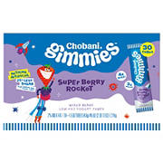 Chobani Gimmies Super Berry Rocket Low Fat Yogurt Tubes, 30 ct.