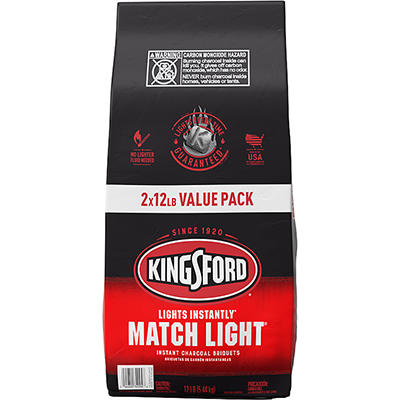 Kingsford Match Light Charcoal Briquets, 2 pk./12 lbs.