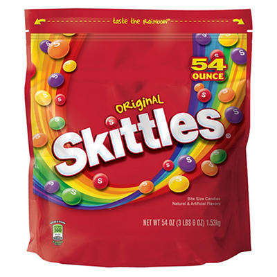 Skittles Original Candies, 54 oz.