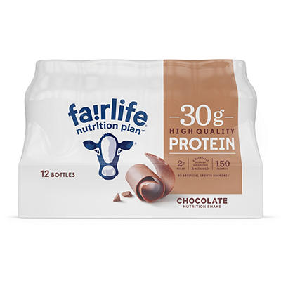 Fairlife Nutrition Plan High Protein Chocolate Shake, 12 pk.