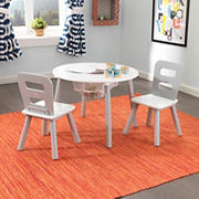 KidKraft 3-Pc. Round Storage Table and Chair Set