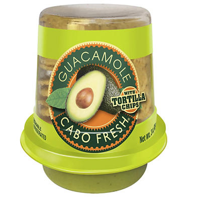 Cabo Fresh Guacamole and Chips, 6 ct./3 oz.