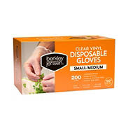 Berkley Jensen Small/Medium Vinyl Gloves, 2 pk./200 ct.