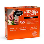 Berkley Jensen Large Vinyl Gloves, 400 ct.