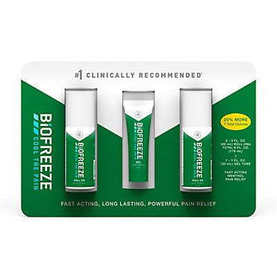 Biofreeze Pain Relief Gel Multi-Pack, 2 pk./3 fl. oz. with Bonus 1 fl.