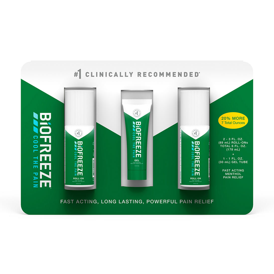 photo relating to Biofreeze Coupons Printable titled Biofreeze Suffering Reduction Gel Multi-Pack, 2 pk./3 fl. oz. with Reward 1 fl. oz. Tube