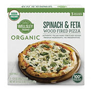 Wellsley Farms Organic Spinach & Feta Wood Fired Pizza, 3 ct.