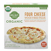 Wellsley Farms Organic Four Cheese Wood Fired Pizza, 3 ct.
