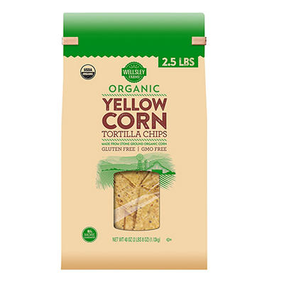 Wellsley Farms Organic Yellow Corn Tortilla Chips, 40 oz.