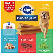 Pedigree Dentastix Triple Action Adult Dog Treat, 62 ct.