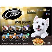 Cesar Home Delights Variety Pack Dog Food Trays for Adult Dogs, 40 ct.