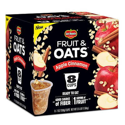 Del Monte Fruit & Oats Apple Cinnamon, 8 pk./7 oz.