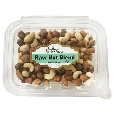 Lilly's Family Foods Raw Nut Blend, 12 oz.