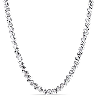 1.00 ct. t.w. Diamond Tennis Necklace in Sterling Silver