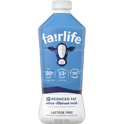 Fairlife Reduced Fat Ultra Filtered Lactose Free Milk, 52 fl. oz.