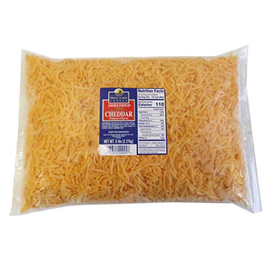 Great Lakes Cheese Shredded Mild Cheddar, 5 lbs.
