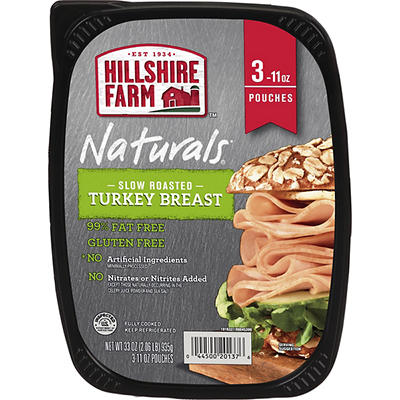 Hillshire Farms Slow Roasted Turkey Breast, 3 pk./11 oz.