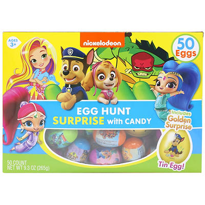 Frankford Nickelodeon Egg Hunt Surprises with Candy, 2 pk./50 ct.