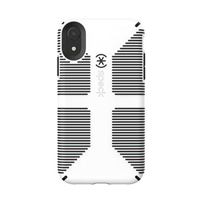 Speck CandyShell Grip iPhone Phone Case - White/Black