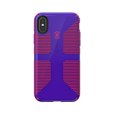 Speck CandyShell Grip iPhone XS, X Phone Case - Ultraviolet Purple/Rub