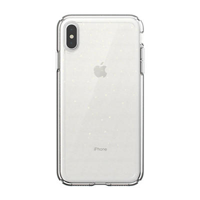 Speck GemShell Glitter iPhone XS Max Phone Case - Clear With Gold Glit