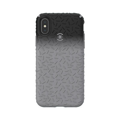 Speck CandyShell Fit iPhone XS, X Phone Case - Black Ombre Gunmetal/Gu