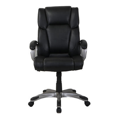 Berkley Jensen Bonded Leather Manager Chair - Black